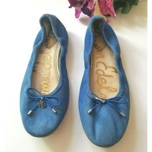 Sam Edelman 6 shoes Ballet Flats Blue Suede